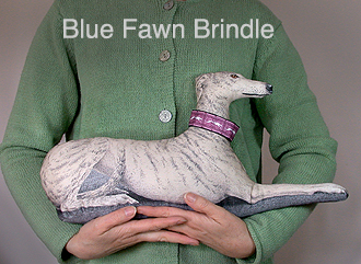Blue Fawn                               brindle greyhound throw pillow.