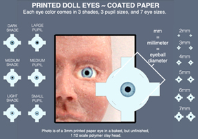 Miniature doll                               eyes available