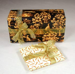 Greyhound print wrapping paper